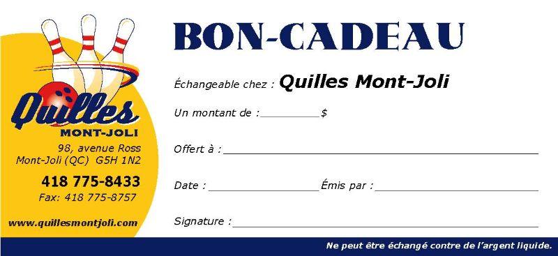 Des cadeaux de Noël de Quilles Mont-Joli, pourquoi pas!
