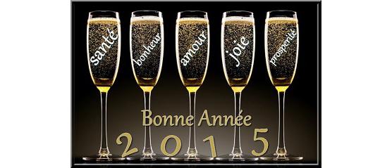 Bonne Année à toute notre clientèle!