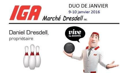 DUO DE JANVIER-IGA MARCHÉ DRESDELL est de retour!