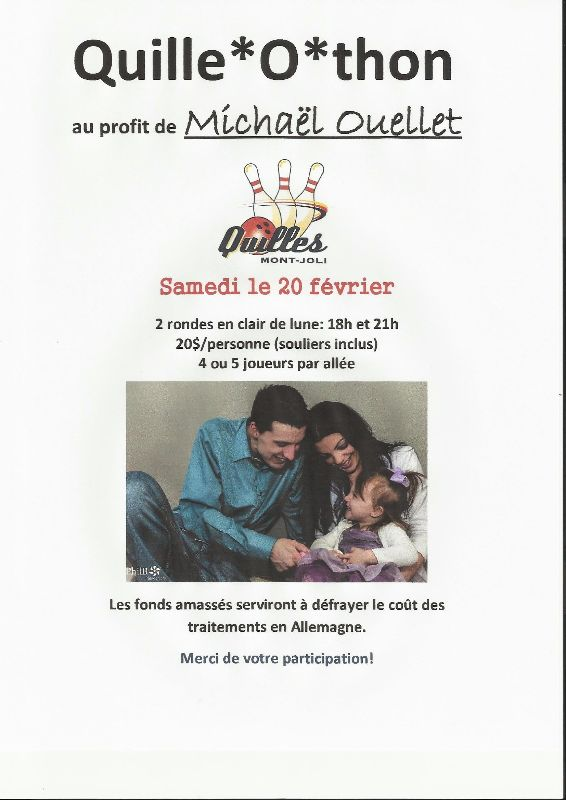 Affiche photo Quille-O-thon
