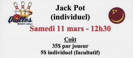 NOUVEAU – JACK POT INDIVIDUEL