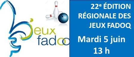 RAPPEL – Jeux de la FADOQ Bas St-Laurent