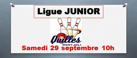 Retour d'une ligue JUNIOR chez Quilles Mont-Joli