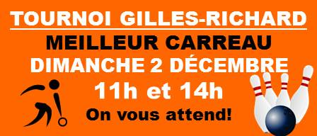 Tournoi MEILLEUR CARREAU Gilles-Richard