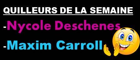 Quilleurs De La Semaine Du 28 Oct.