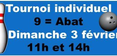 Tournoi amical INDIVIDUEL 9= Abat