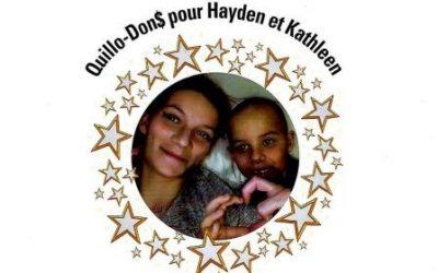 Quill-O-Don$ au profit de Kathleen et Hayden.