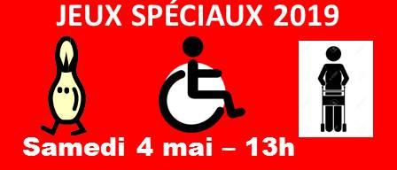 JEUX SPÉCIAUX – ÉDITION 2019