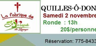 QUILLES-Ô-DON$ pour l'église de St-Joseph de Lepage