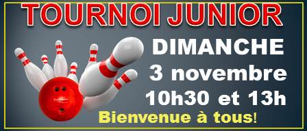 Quilles Mont-Joli sera l'hôte du 1er tournoi régional JUNIOR de la saison!