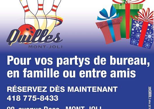 Réservez tôt pour vos partys des fêtes!