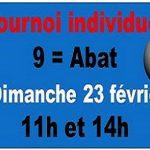 Tournoi INDIVIDUEL 9= Abat