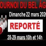 Tournoi du BEL ÂGE, REPORTÉ au 25-26 avril & 3 mai 2020